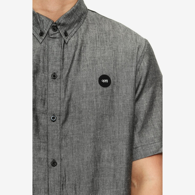 Ardent Short Sleeve Shirt Black Wash