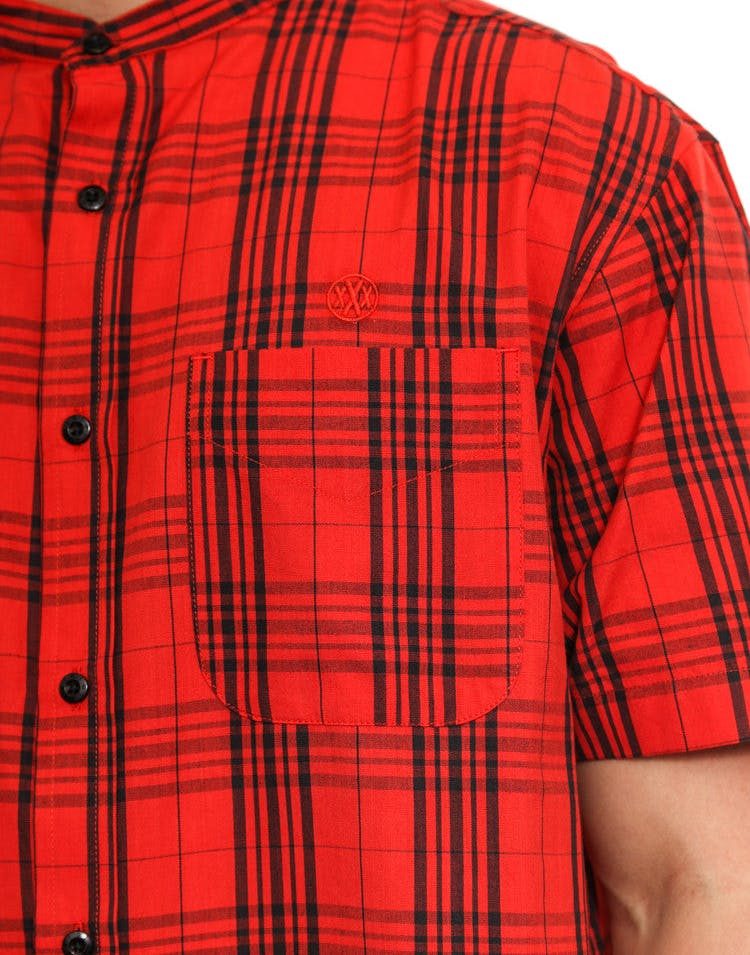 Hamilton Stand Button-up Red