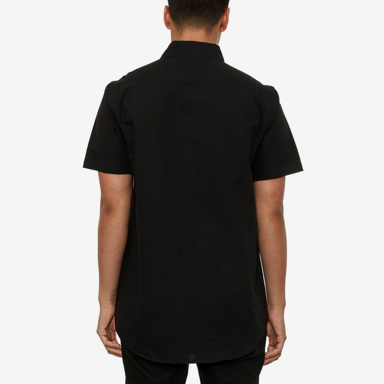 Oxford Button up SS Black