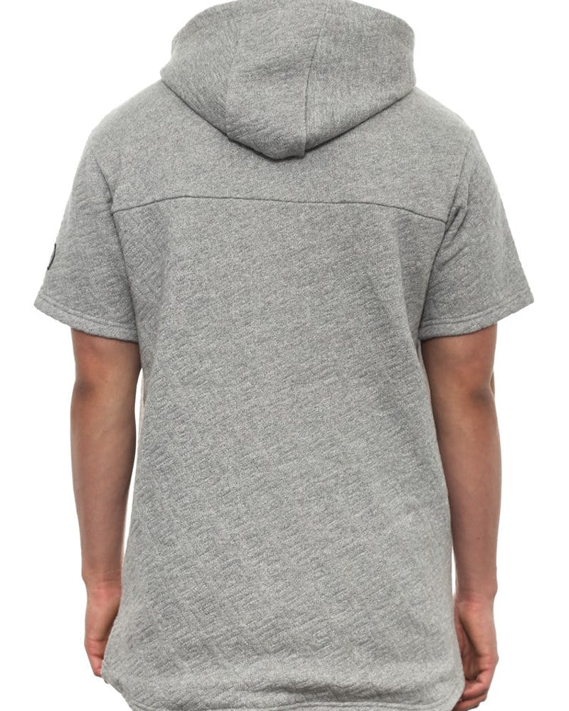 Loco Short Sleeve Zip Hood Grey