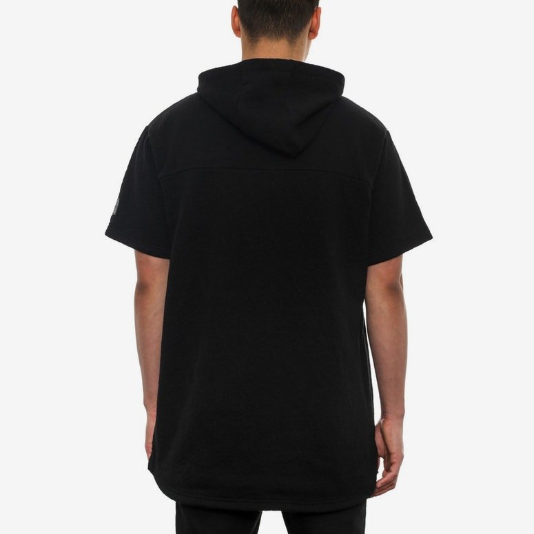 Loco Short Sleeve Zip Hood Black