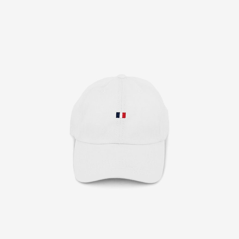 Flag Precurved Strapback White