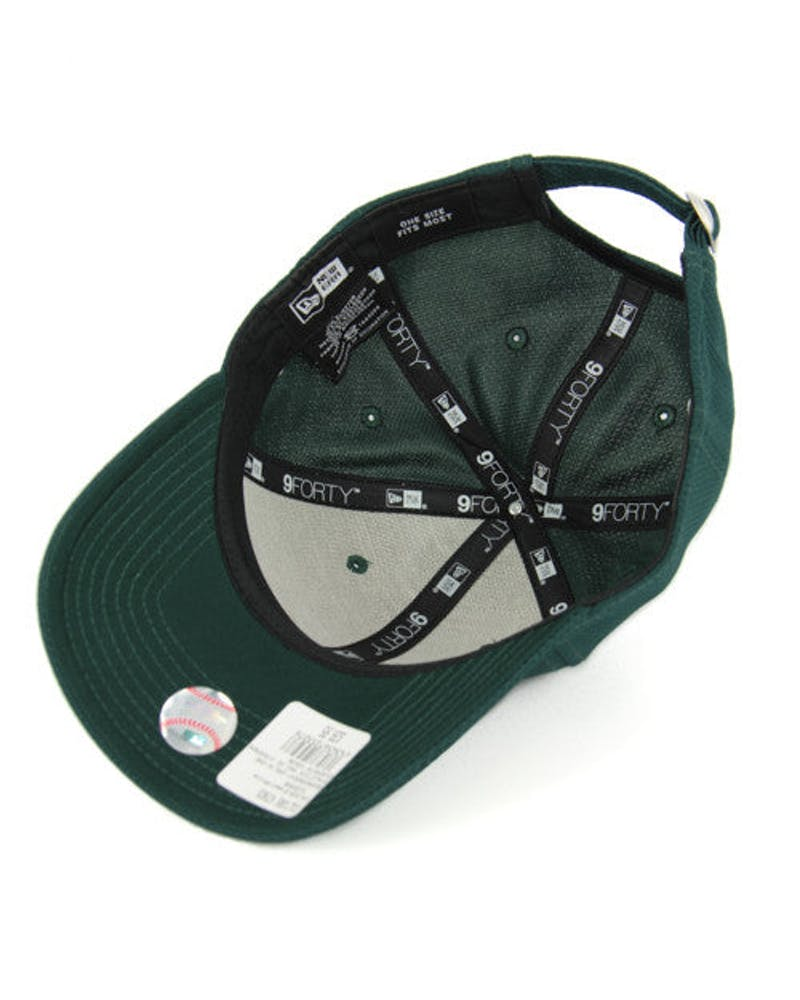 New Era Athletics 9FORTY de Strapback Green/white
