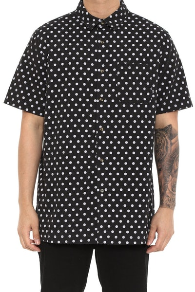 Dot SS Button up Black