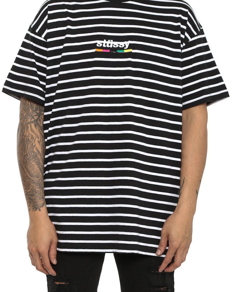 Colours YD Stripe SS Tee Black