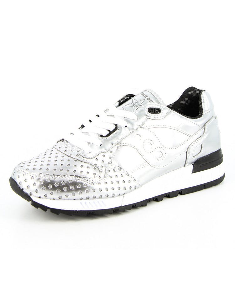 PC X Saucony Shadow Shoe Silver