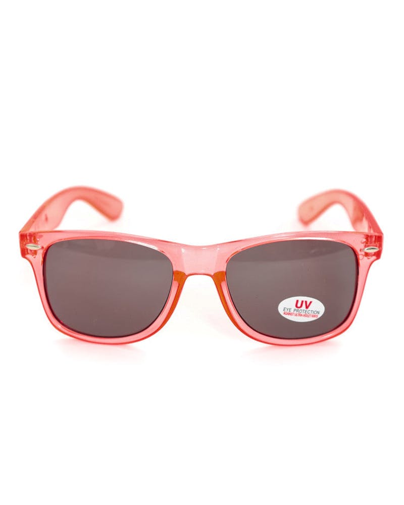 Cyrillic Bone Sunglasses Orange