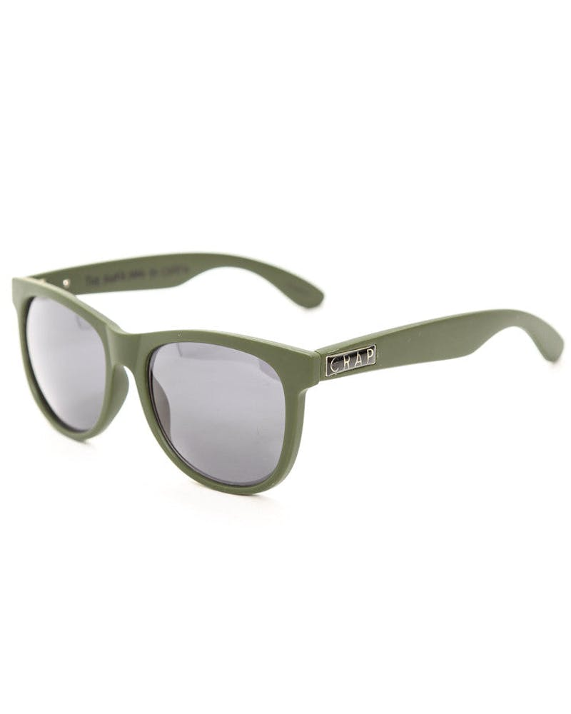 Nudie Mag Sunglasses Olive