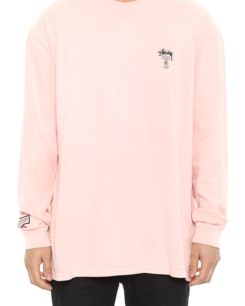 Basic CM Long Sleeve Pocket Tee Pink