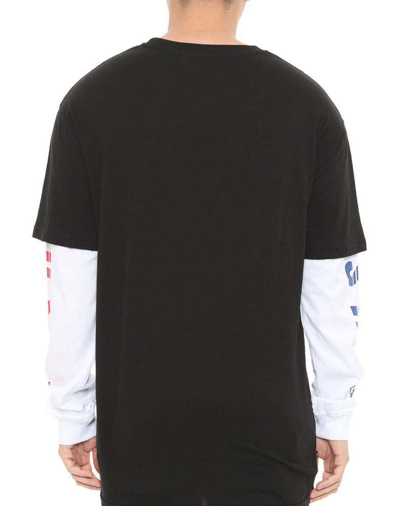 Apex Over Long Sleeve Tee Black