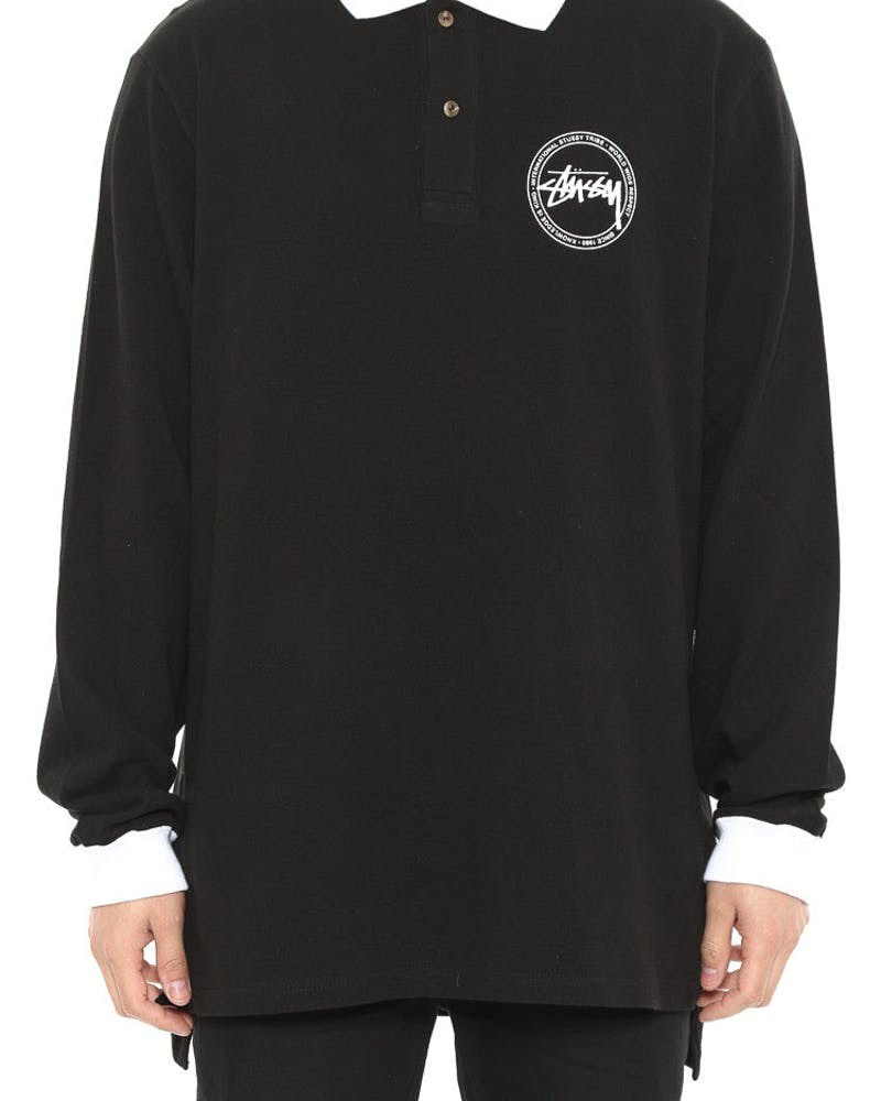 King Knowledge Long Sleeve Polo Top Black
