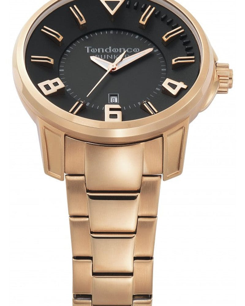 Bunker 3H Watch Rose Gold
