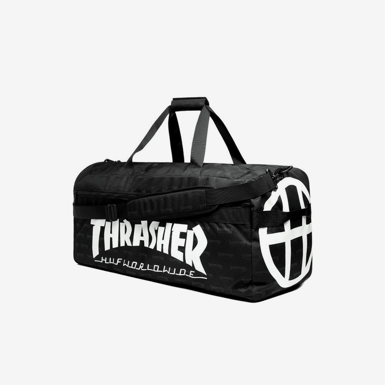 HF X Thrasher Duffle Bag Black