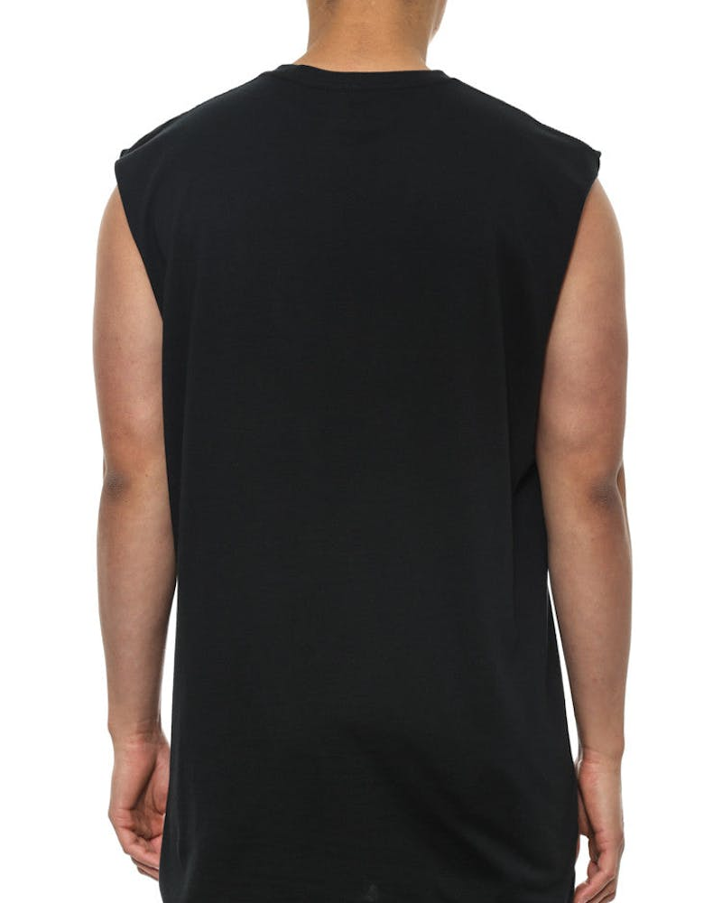Marble Step Muscle Tee Black