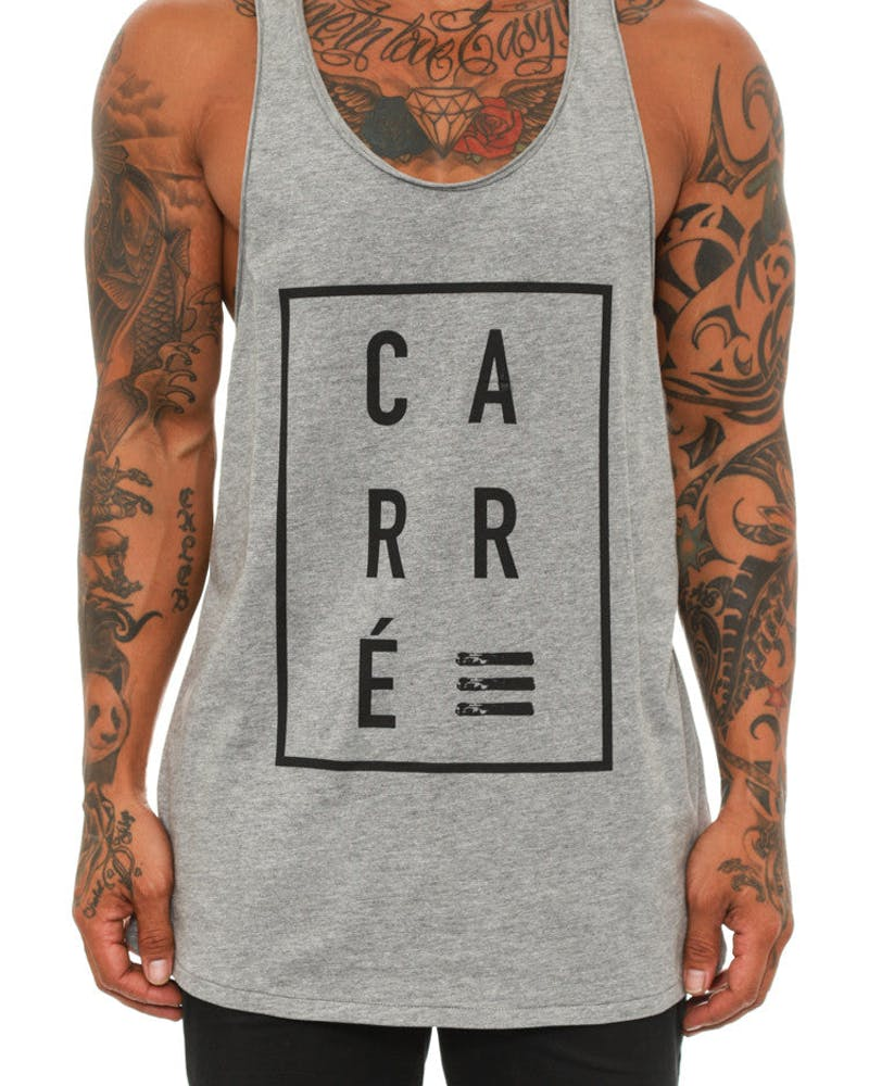 Boxed Singlet Grey Heather