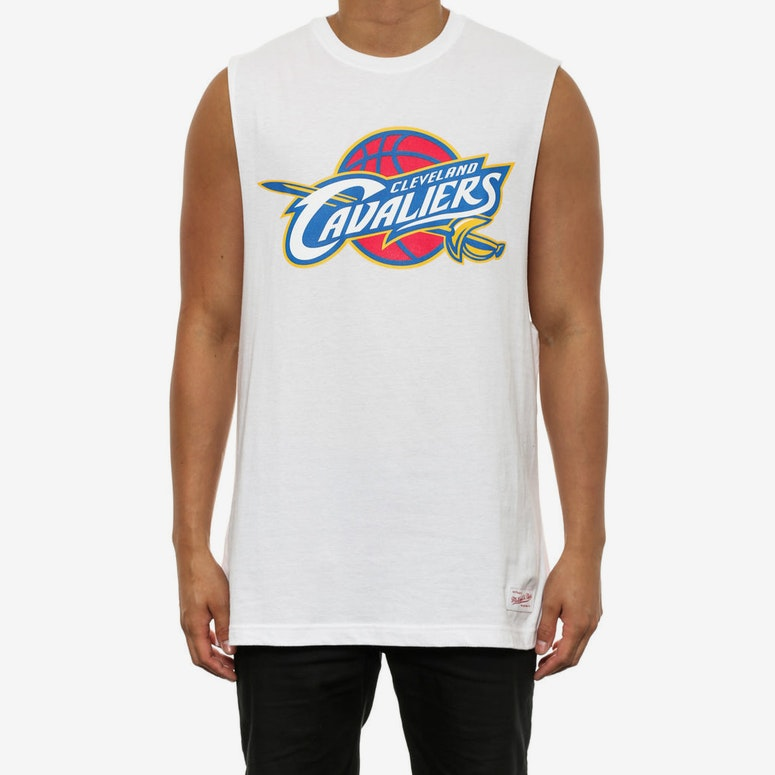 Cavaliers Team Logo Muscle White