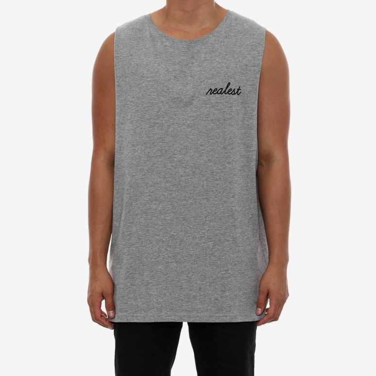 Realest Muscle Tank Grey Heather