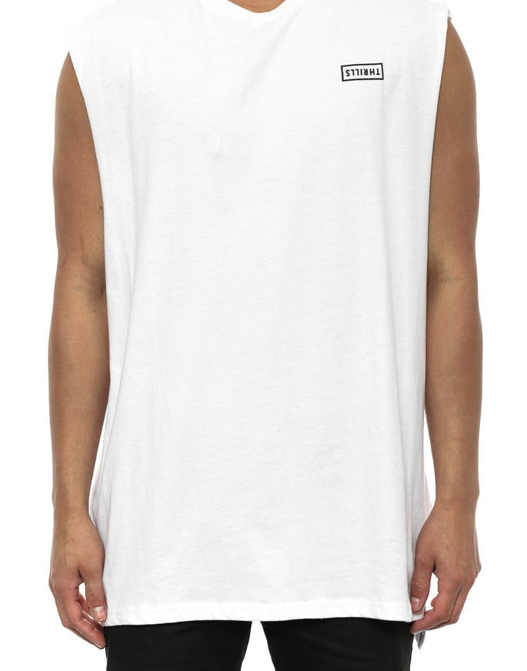 Box Logo Step Muscle Tee White