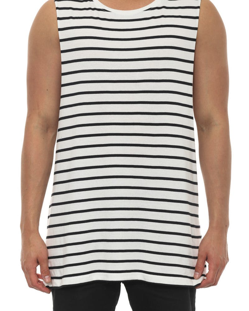 Barnard Stripe Tank Natural/black
