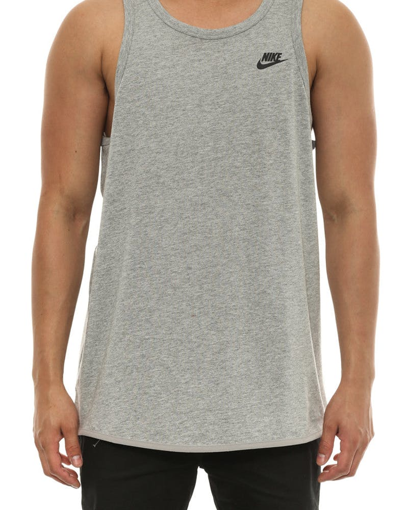 Bonded Tank Grey Heather/bl