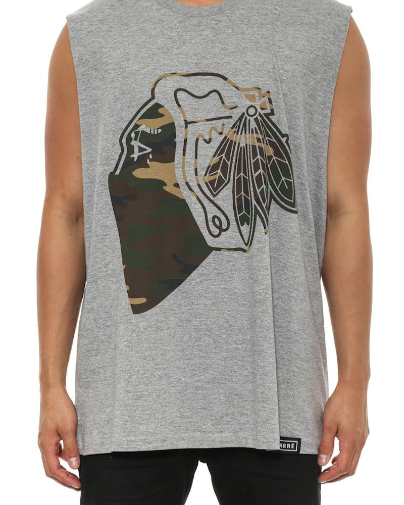 Camo Native Muscle T Grey Heather