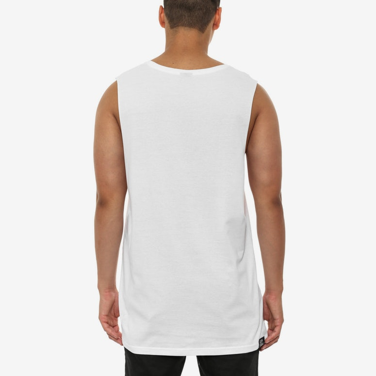 Trappers Muscle T White