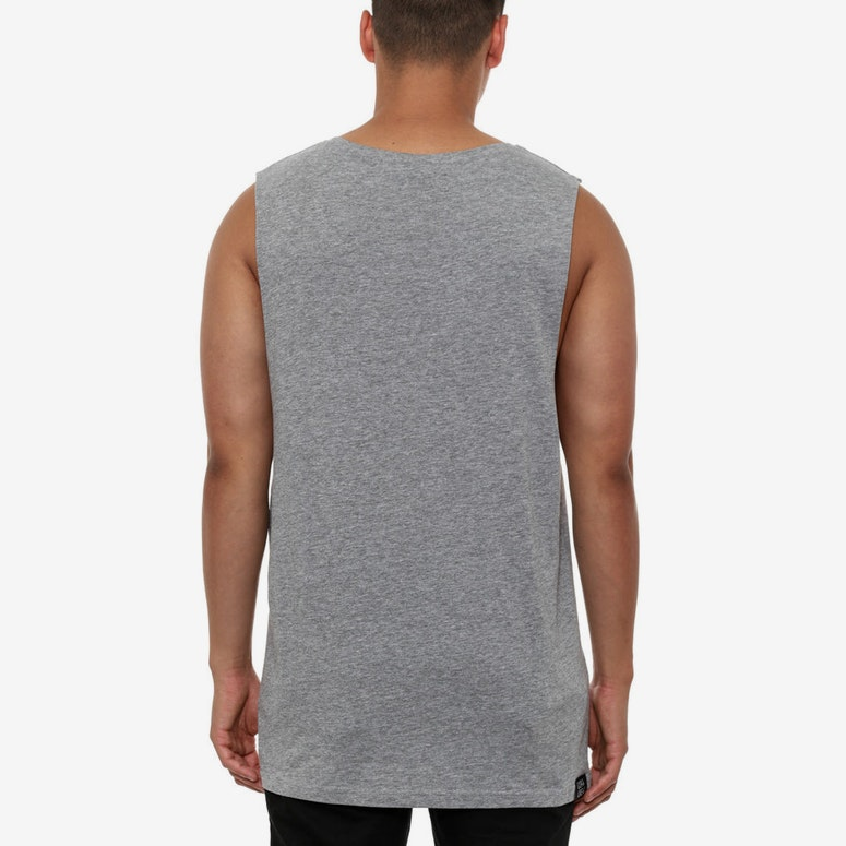 Dab King Muscle Grey Heather