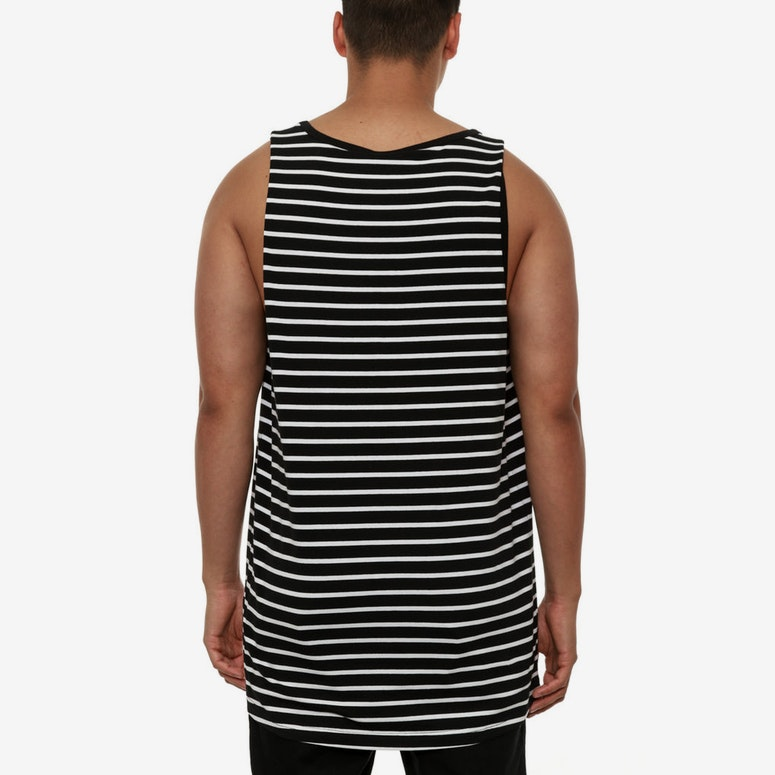 Zero Stripe Tank Black/white