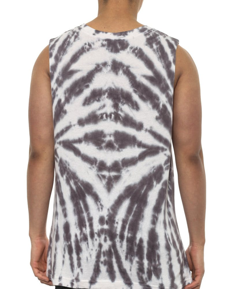 Psyched Muscle Tee Grey/white