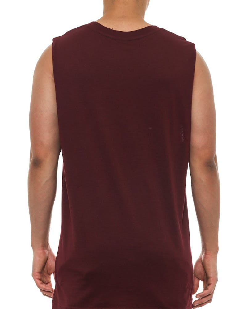 Panther Muscle Tank Burgundy