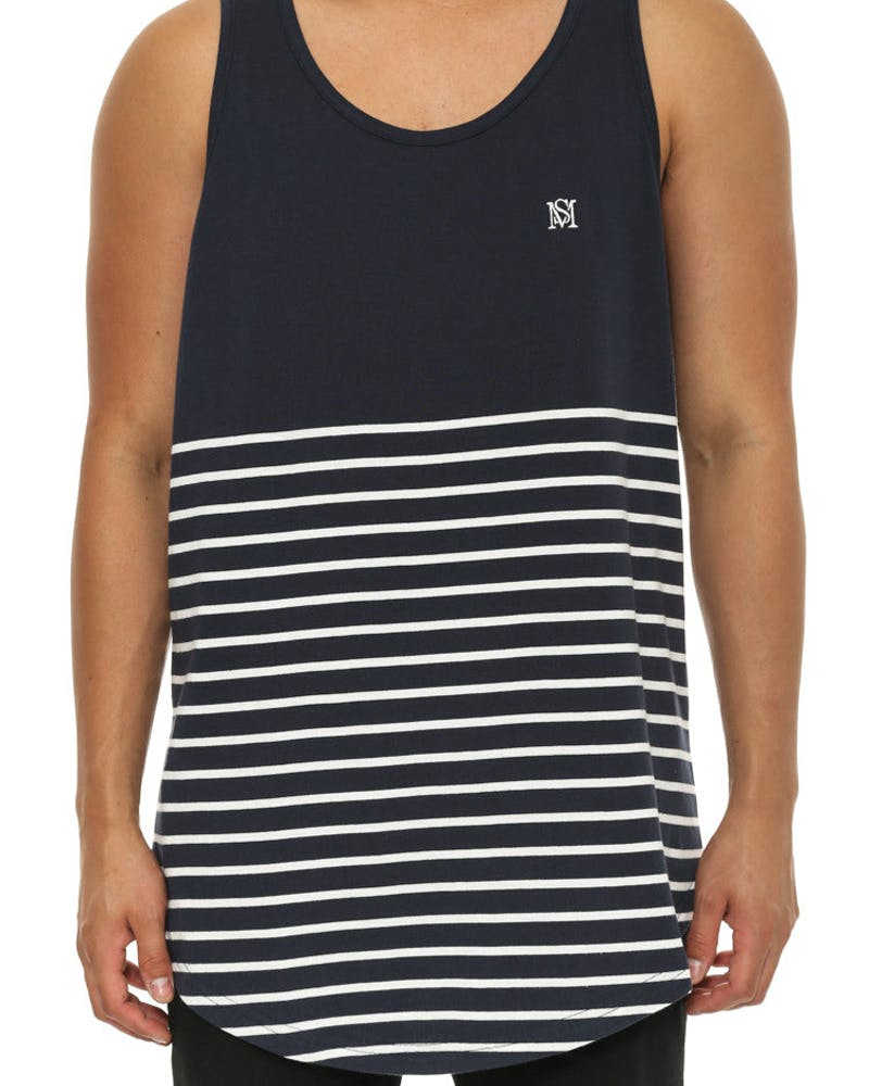 Ruler Tank Navy/white