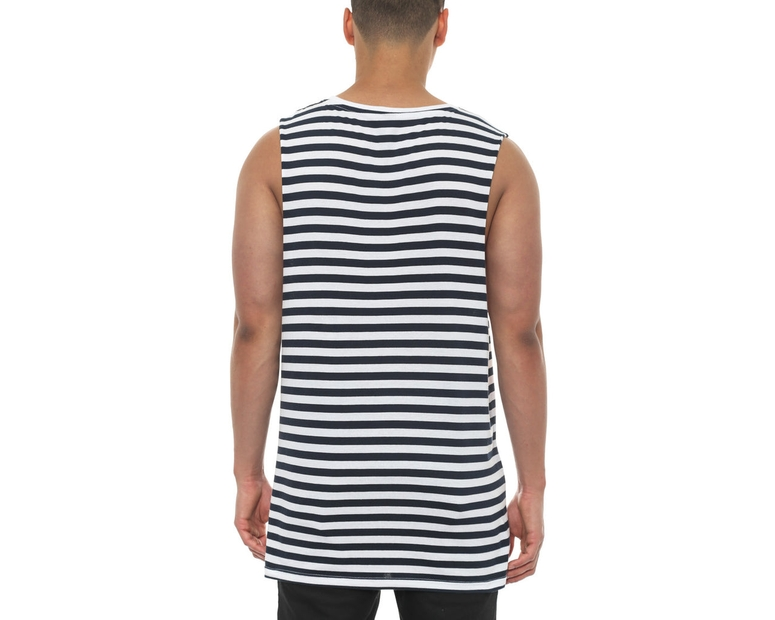 Barnard Stripe Tank Navy/white
