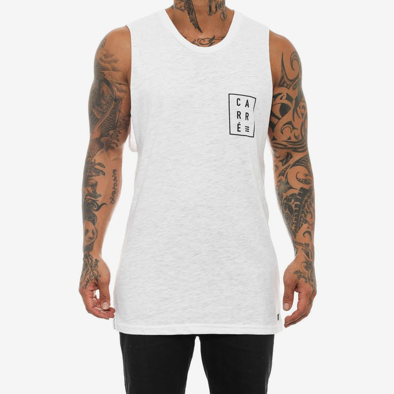 Boxed Scision Muscle Tank White