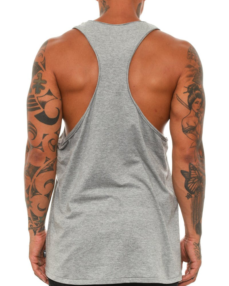 Sliced Singlet Grey Heather
