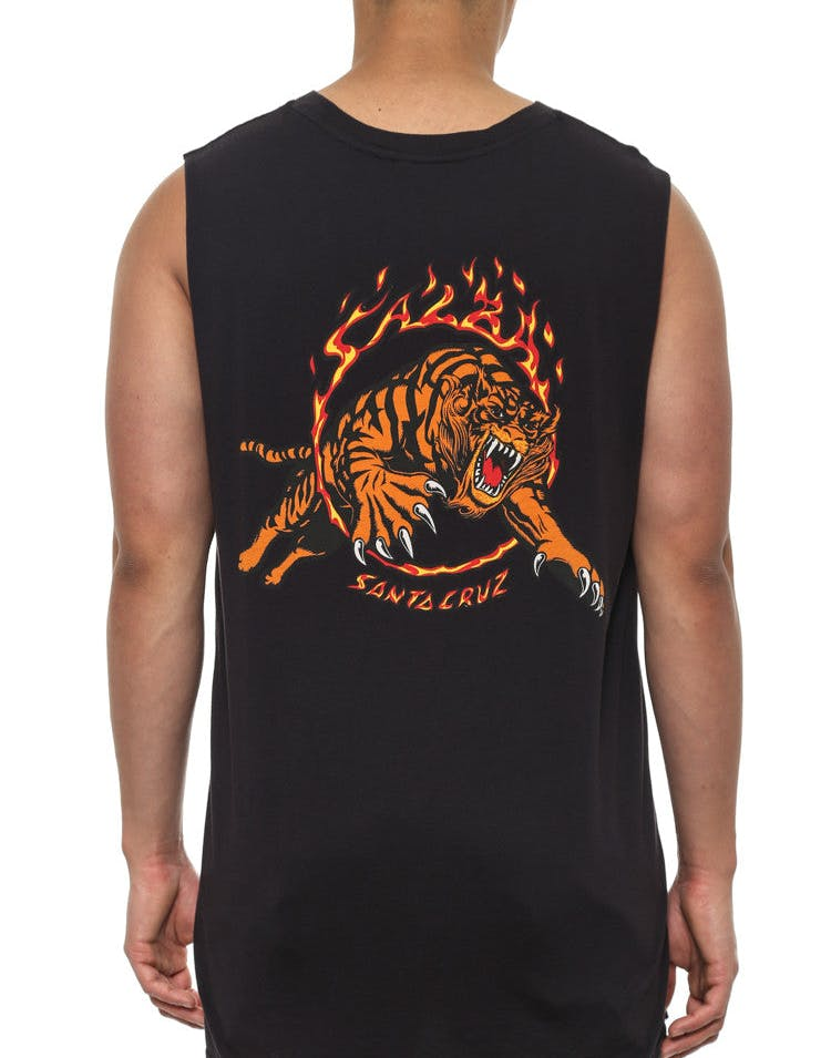 Salba Muscle Tee Black