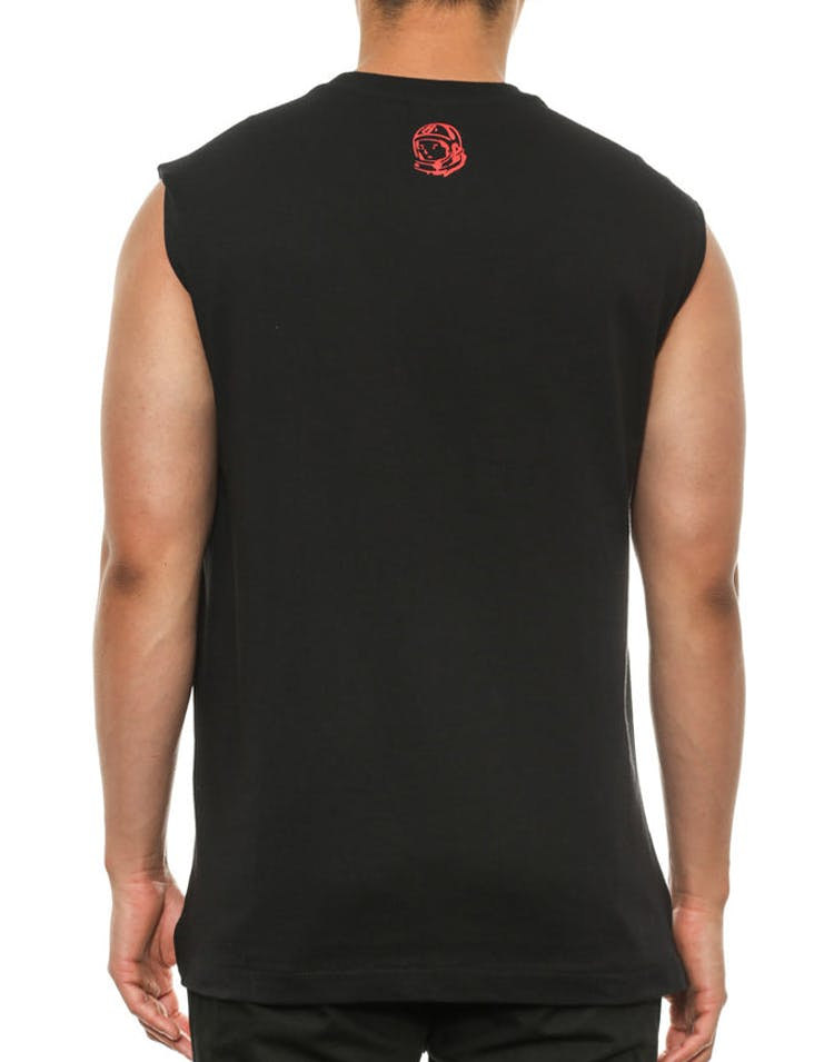 Small Arch Logo Muscle Tank Black/red