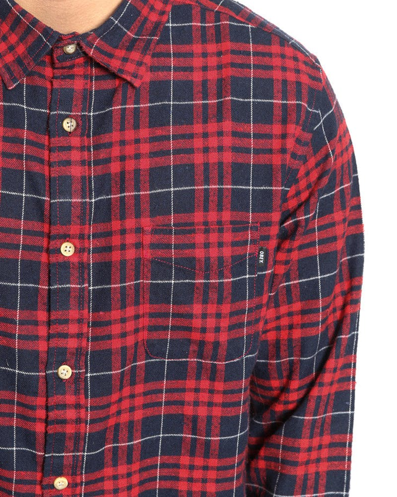 Macolm Flannelette Shirt Red