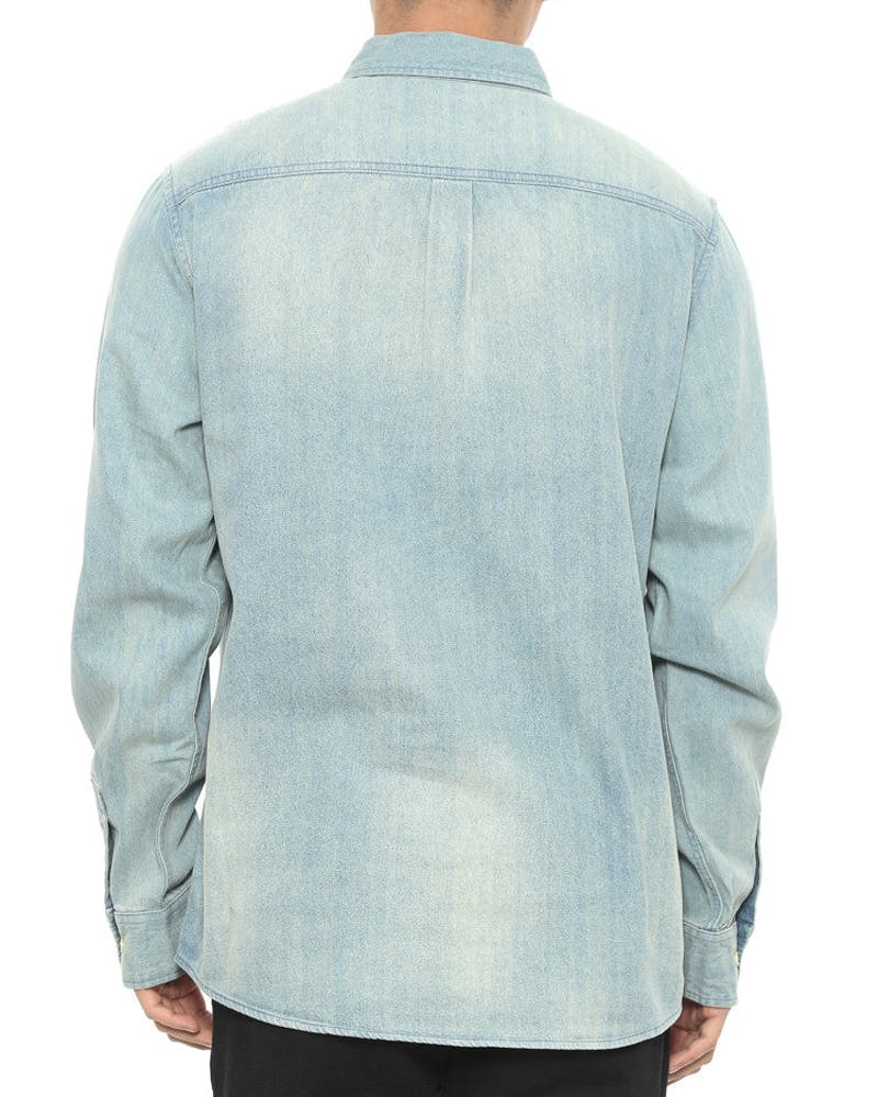 Upstate Denim Long Sleeve Button up Light Indigo