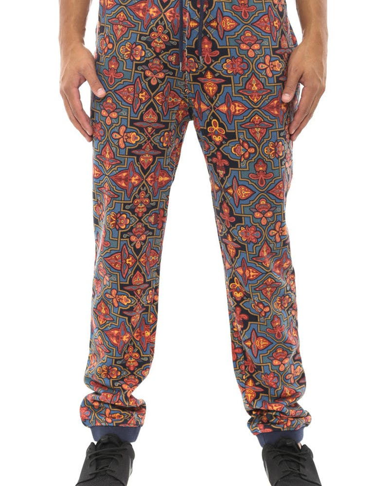 Division Sweatpant 3 Blue/gold/red