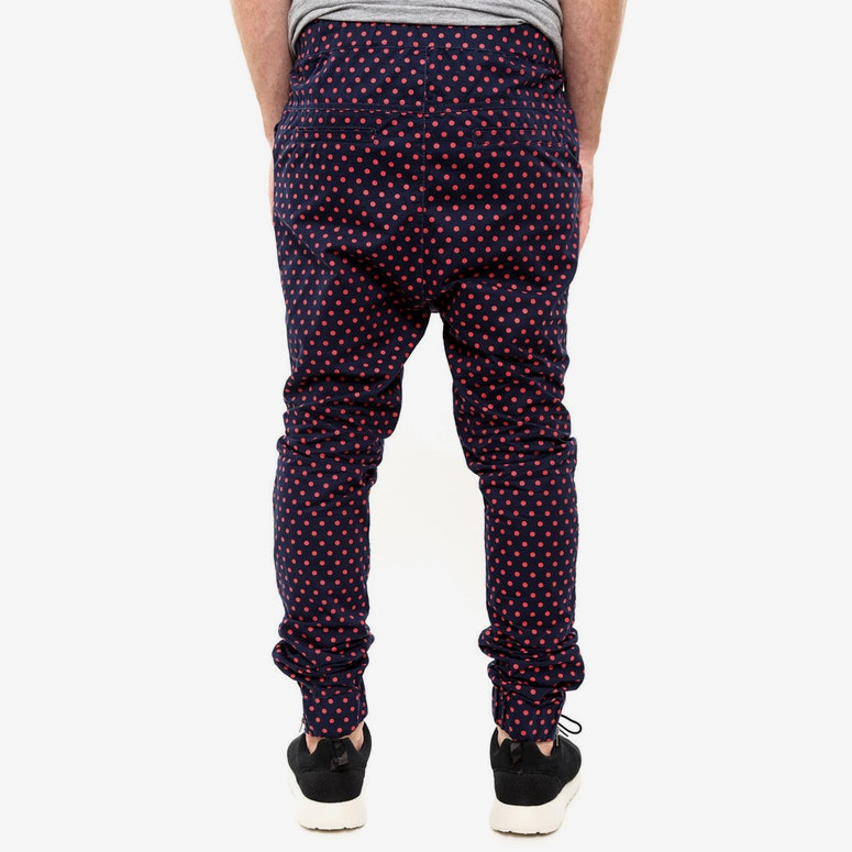 Jenkins Cuffed Chino Navy/red