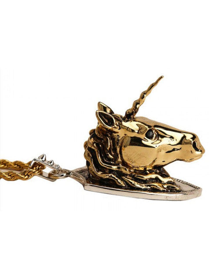 Unicorn Necklace Silver/gold