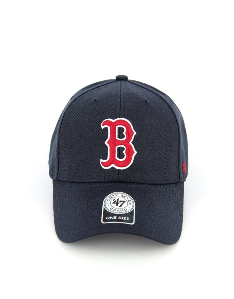 15579e4a9e8f6 47 Brand Red Sox Mvp Velcro Back Navy red white – Culture Kings