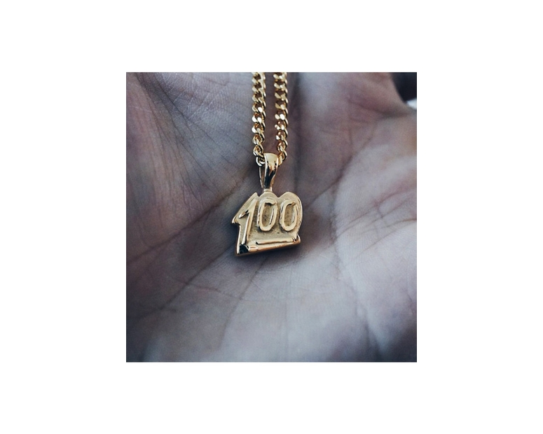 100 Pendant Chain Gold