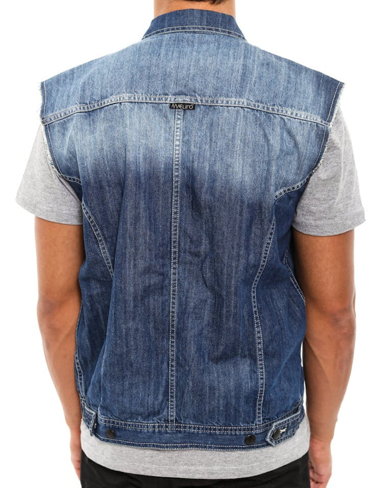 Nve Amero Denim Vest Blue