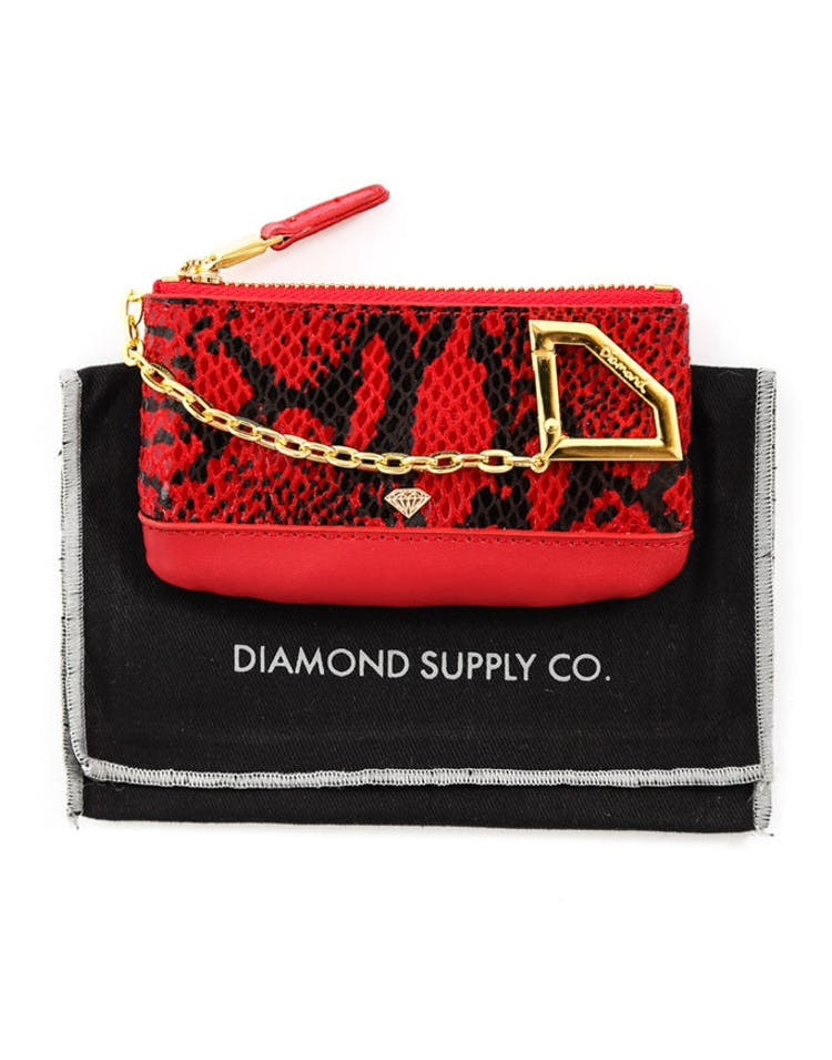 Chain Snake Pouch Red