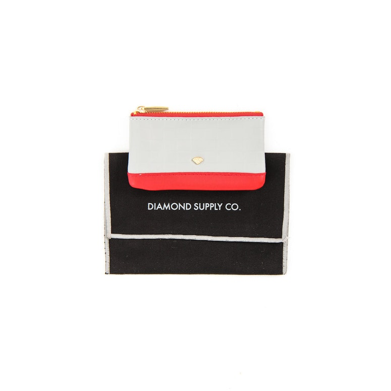 Coin Pouch Grey/red
