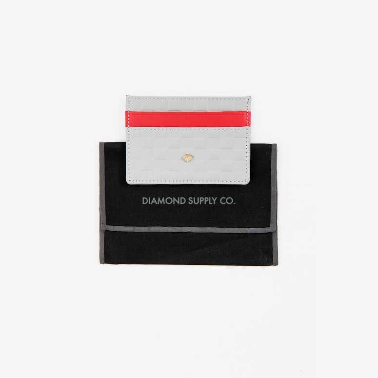 Card Holding Wallet Grey/red