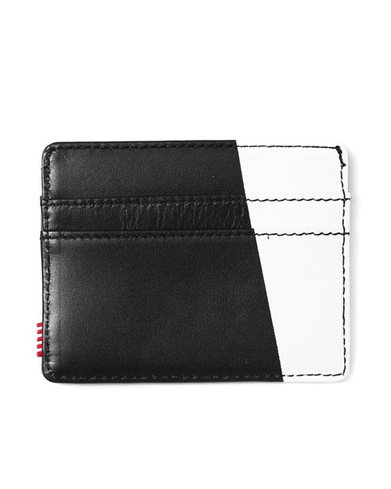 Charlie Leather Wallet Black/white