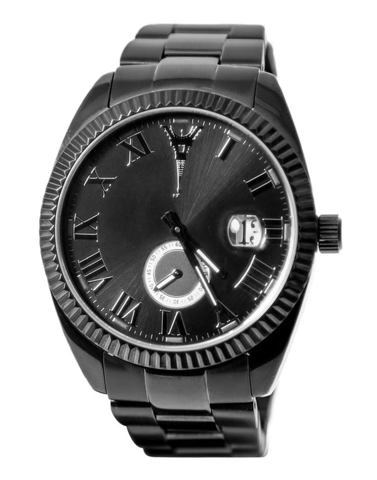 Paris Reloj Watch SS Band Black
