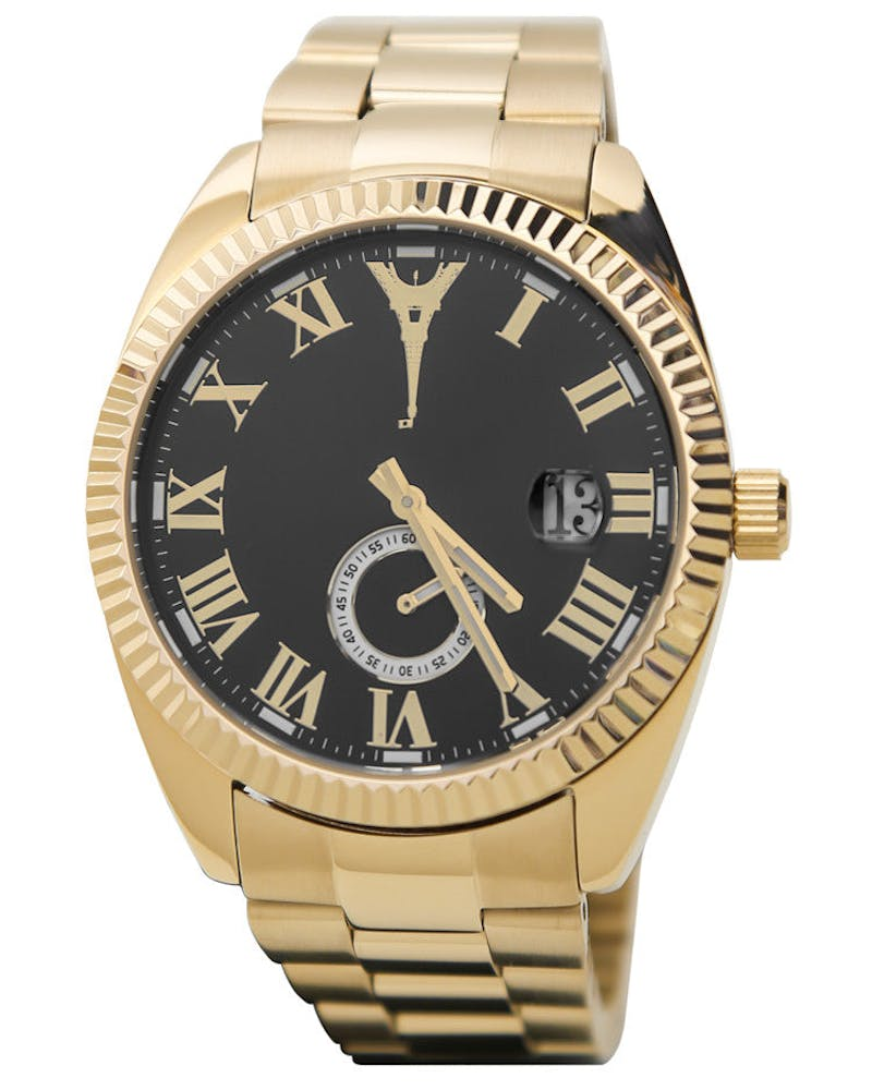 Paris Reloj Watch SS Band Gold